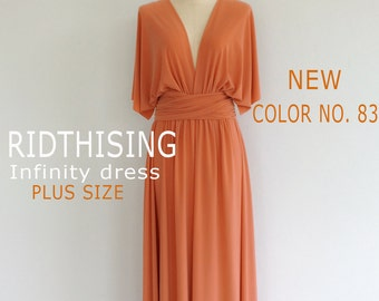 Plus Size Bridesmaid Dress Maxi infinity Dress Prom Dress Convertible Dress Wrap Dress