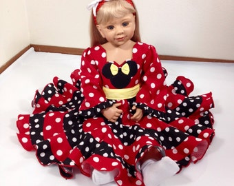 Disney Theme Minnie Mouse Boutique Pageant Dress.. Sizes available 12M-10 girls