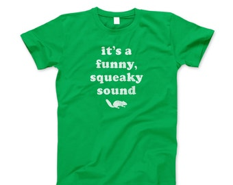Christmas Vacation Shirt T New Squirrel Funny Squeaky Sound Holiday 80's Ring Spun Soft Style Adult T-Shirt