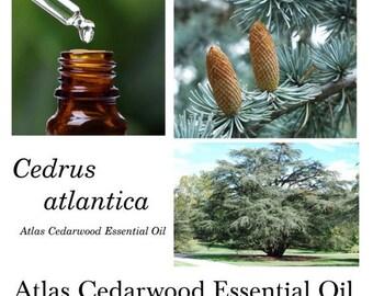 Atlas Cedarwood Essential Oil, Atlas Cedarwood Oil, Cedrus atlantica, 100% Pure Authentic Atlas Cedarwood EO