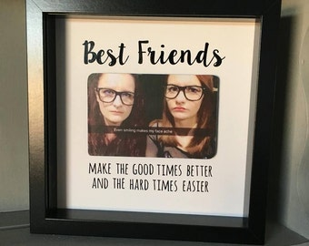 personalised box frame best friends photo frame picture frame picture display personalised gift photo gift home decor