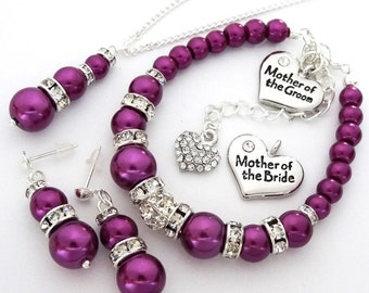Wedding Jewelry Set Mother of the Bride Jewelry Mother of the Groom jewelry Mother of the Bride gift Mother of the groom gift Bridal party