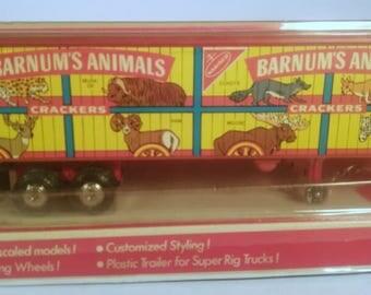 Vintage Barnum's Animal Toy Truck Trailer