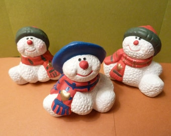 Christmas / Winter, Snowman Trio, Figurines