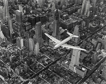 "Margaret Bourke-White Photo ""DC-4 Over Manhattan"" 1939"
