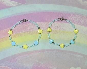 Fairy Kei Bracelet, Sweet Lolita Bracelet, Decora Bracelet, Star Bracelet, Heart Bracelet, Magical Girl Bracelet, Pop Kei Bracelet