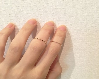 14K Solid Gold Ring, 14K Gold Stacking Ring, 14K Gold Thin Ring, 14K Gold minimalist Ring, 14K Gold knuckle Ring, 14K midi ring,texture ring