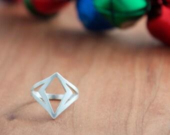 Diamond Shape Ring, Girl Power Ring
