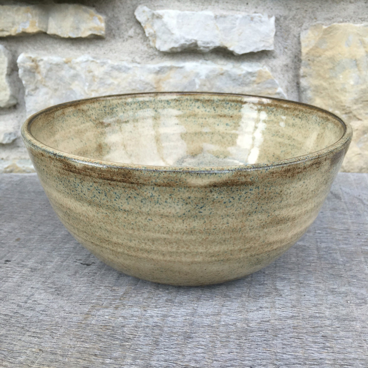 Vintage Pottery Made In England Mixing Bowl