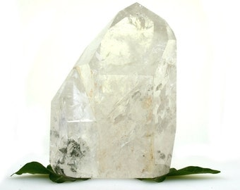 XLarge lemurian seed crystal, mother and baby with stunning rainbows, 1.136 kg (2.5 lb), rare polished lemurian star seed