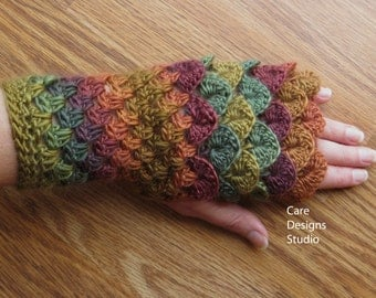Dragon Scale Gloves/Fingerless Gloves