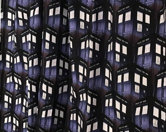 Black Dr. who curtain  panels choose size