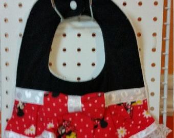 Just Reduced - Minnie Mouse Inspired Bibs - Toddler Bibs - Dress Bibs - Absorbent Bibs - Best Bibs