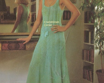 Knitted Evening Summer Dress Knitting PDF Pattern