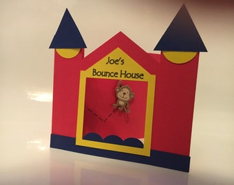Bounce House 3D Cardstock Invitation