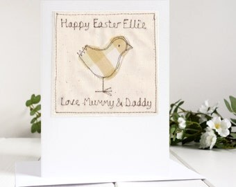 Easter Chick Card - Personalised Easter Card - Baby's 1st Easter Card - Easter Card For Children - Happy Easter Card - Childs Easter Card
