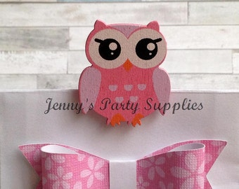 Set Of 12 Owl Clothespins, Owl Favor Bag Pins, Owl Baby Shower Decorations