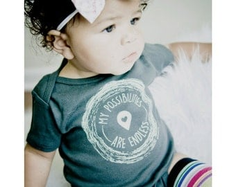 NEW! my possibilities ae endless, Organic Baby Clothes, Baby Girl Clothes, Baby Girls' Clothing, Baby Shower Gifts, Cute baby girl clothes