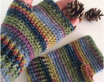 Crochet Wrist Warmers ,Fingerless Gloves, Crochet Gloves ,Fingerless Mittens  perfect christmas gift ,handmade gift.