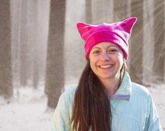 Pussy Cat Hat, Women's March, Cat Hat, Pussyhat, Resist Hat