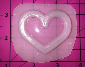 Deep Heart Outline Bezel for Shaker or Liquid Resin - Resin plastic resin molds