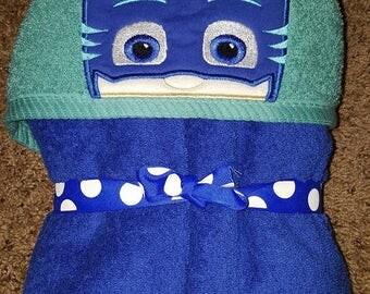Mask hooded towel
