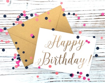 Happy Birthday! [Gold Foil Card]