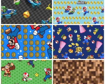 Super Mario Fat Quarter Bundle - 6 prints
