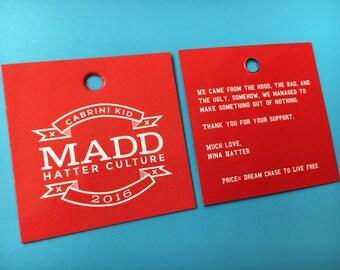 300 Swing ticket, Card Hang tag, Custom hang tag, Swing tag, Clothing Swing tag, Personalized tag for bag, garments, fashion