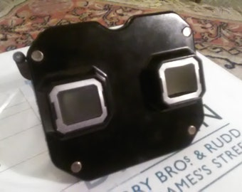 View-Master Vintage Black w/ Metal Pull and Ten Cartridges.