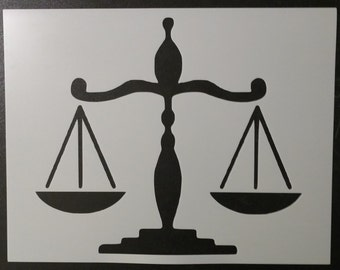 Scales of Justice Scale Stencil FAST FREE SHIPPING
