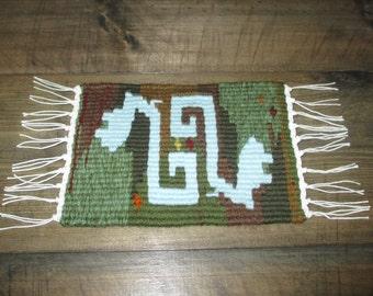 Handmade miniature, handwoven miniature rug, dollhouse rug, dollhouse decorations, new design