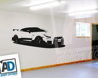 Wall sticker R-011 car Nissan-GTR
