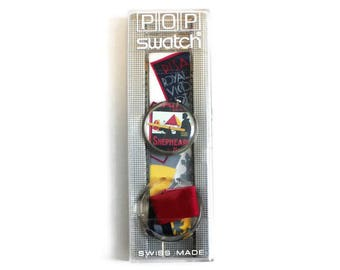 1990's Pop Swatch Watch, Raffles Swatch Watch