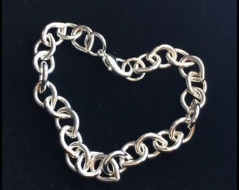 Beautiful Silver Link Charm Bracelet