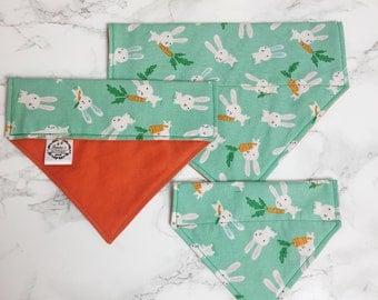 Hoppity Hop Bunny Bandana | Easter dog bandana | Cute dog bandana | Spring dog bandana | 100% cotton