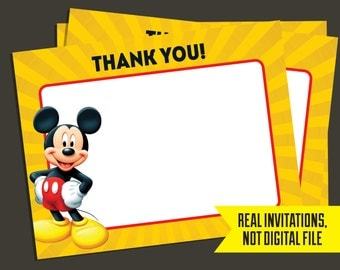 Mickey Mouse Thank You Cards - Mickey Mouse - Thank You