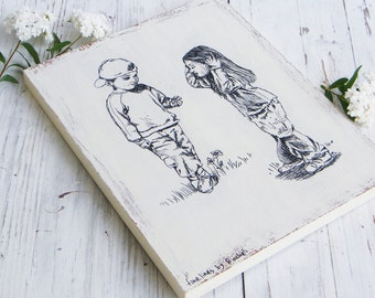 Kids print on wood, Wall sign, Kids room decor, Wood signs, Art & collectibles, Shabby chic, Hostess gift