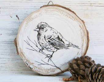 Woodland animals, Bird print, Bird wall art, Bird Wood picture, Woodland baby shower, Rustic wall sign, Country home decor, Wood sign