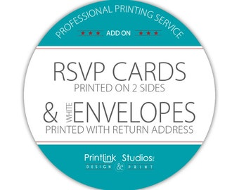 Add --- Printing Services - Response Cards & Envelopes - SKU PS-RE