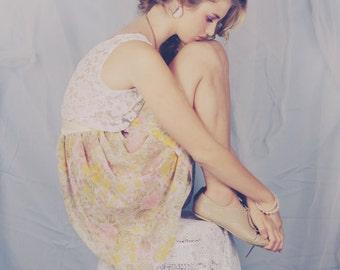 Floral Bridesmaids dress. Luna . Lace and chiffon.