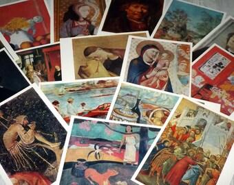 Western European painting postcard set - Vintage art postcards - Famous artworks post card set - Famous masterpiece painting print set