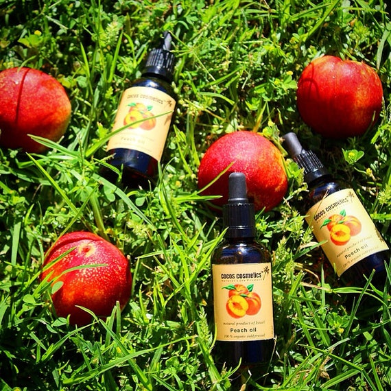 Peach kernel oil - Pure 100% Unrefined and Undiluted cold pressed oil best for eyes care, nail care and all body