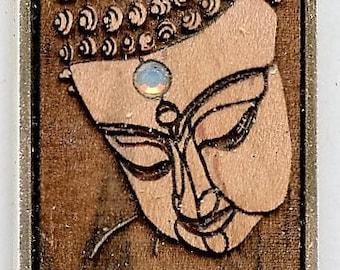 Buddha Pendant w/ Swarovski Crystal