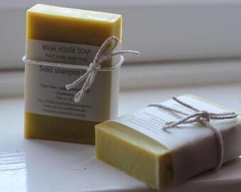 Vegan solid shampoo bars (see variations)