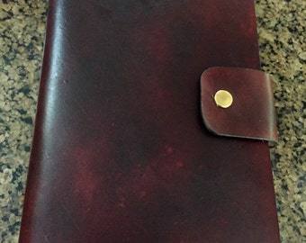 Leather journal,  personalized leather journal cover, Refillable journal,  military leather journal wallet, leather portfolio