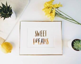 Sweet Dreams   |   gallery wall print, home decor, nursery wall art, baby room wall art