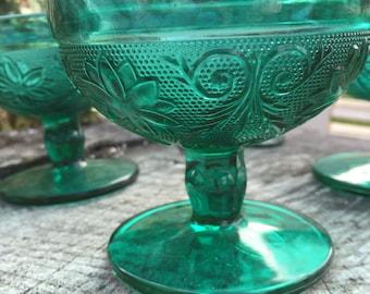 Setof4, Deep Green Goblets