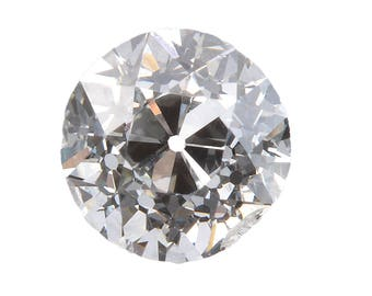 Diamond loose old European cut .34 carat antique vintage | K Si2 / I1 | early round brilliant cut diamond | circa 1800's