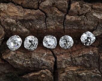 Diamonds old mine cut antique vintage loose | 5 old mine cut diamonds = .73 ct total | J   K  L | Si2  i1 i2 | circa 1800's or before